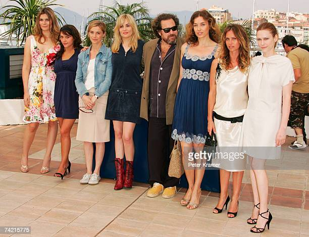 Actresses Emma de Caunes Marina Hands Emmanuelle Seigner director Julian Schnabel Anne Consigny MarieJosee Croze Olatz Lopez Garmendia and Agathe de...