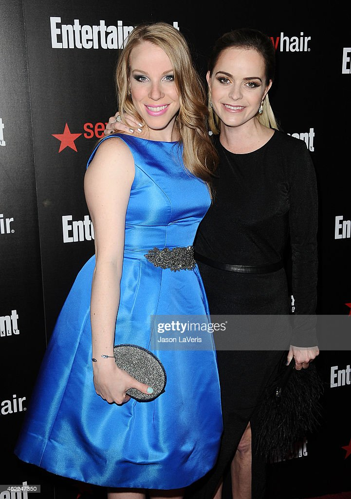 Actresses Emma Myles and Taryn Manning attend the Entertainment Weekly celebration honoring nominees for the Screen Actors Guild Awards at Chateau Marmont on January 24, 2015 in Los Angeles, California.