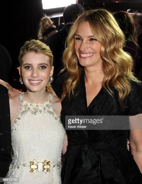 Actresses Emma Roberts And Julia Roberts Arrive At The