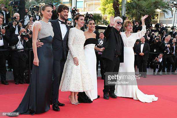 Actresses Emma Suarez Director Pedro Almodovar actress Inma Cuesta actress Adriana Ugarte actor Daniel Grao and actress Michelle Jenner attend the...
