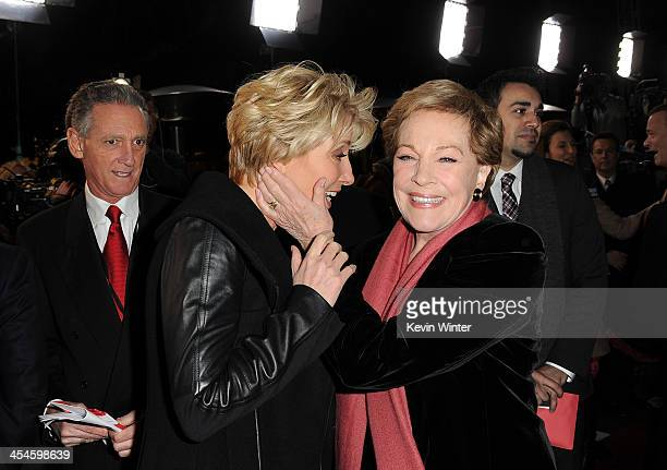 Actresses Emma Thompson and Julie Andrews attend the US premiere of Disney's Saving Mr Banks the untold backstory of how the classic film Mary...