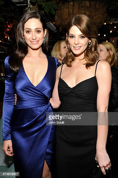 Actresses Emmy Rossum and Ashley Greene attend Decades of Glamour presented by BVLGARI on February 25 2014 in West Hollywood California