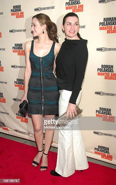 Actresses Emmy Rossum and Julianna Margulies attend the HBO Documentaries premiere Of Roman Polanski Wanted And Desired at The Paris Thatre in New...