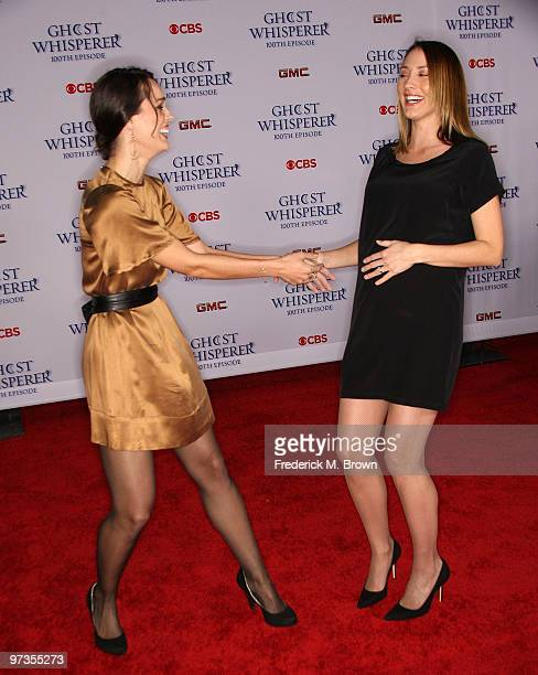 Actresses Erin Cahill and Bree Turner attend the Ghost Whisperer 100th episode celebration at XIV on March 1 2010 in West Hollywood California