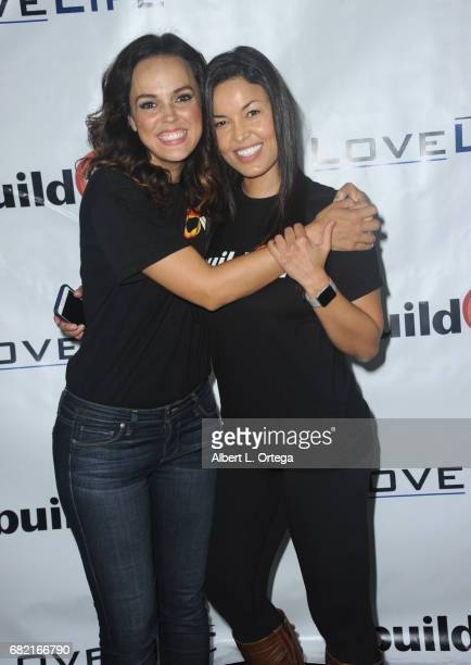 Actresses Erin Cahill and Nawal Bengholam attend the BuildOn Benefit Concert held at The Roxy Theatre on May 11 2017 in Westwood California