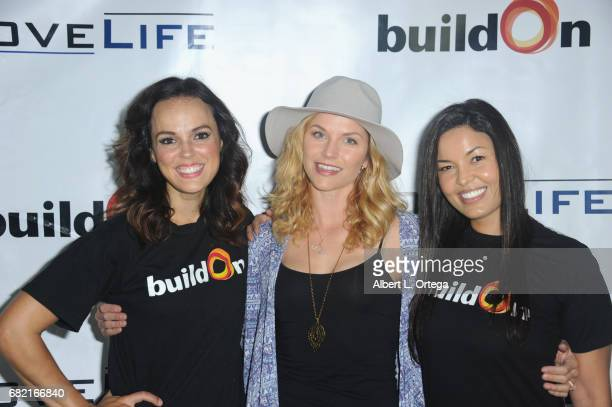 Actresses Erin Cahill Ellen Hollman and Nawal Bengholam attend the BuildOn Benefit Concert held at The Roxy Theatre on May 11 2017 in Westwood...