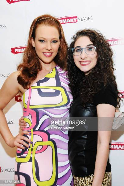 Actresses Erin Cummings and Alexis Molnar attend 'Harbor' Opening Night After Party at Park Avenue Armory on August 6 2013 in New York City