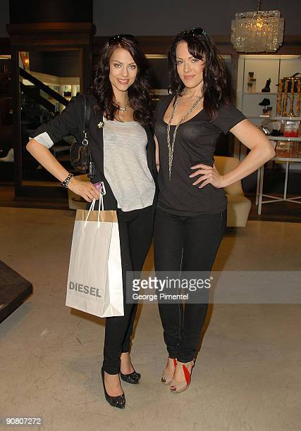 Actresses Erin Cummings and America Olivo attend the Diesel Lounge at 92 Yorkville on September 15 2009 in Toronto Ontario Canada