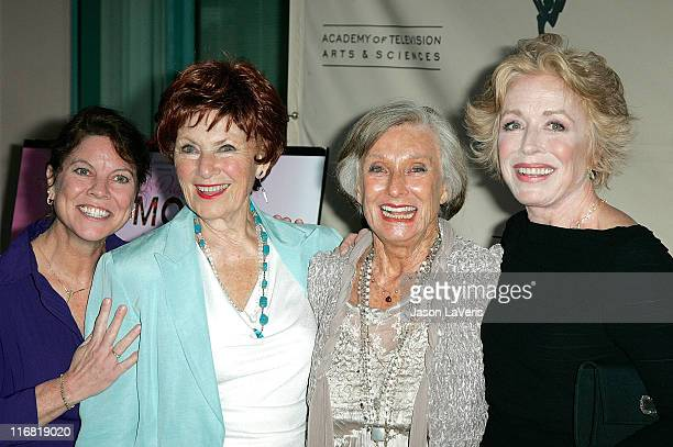 Actresses Erin Moran, Marion Ross, Holland Taylor and Cloris Leachman attend A Mother's Day Salute to TV Moms at the Academy of Television Arts &...