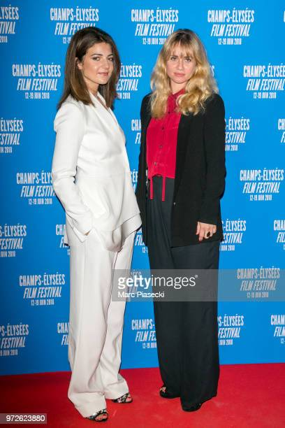 Actresses Esther Garrel and Katell Quillevere attend the 7th Champs Elysees Film Festival at Cinema Gaumont Marignan on June 12 2018 in Paris France