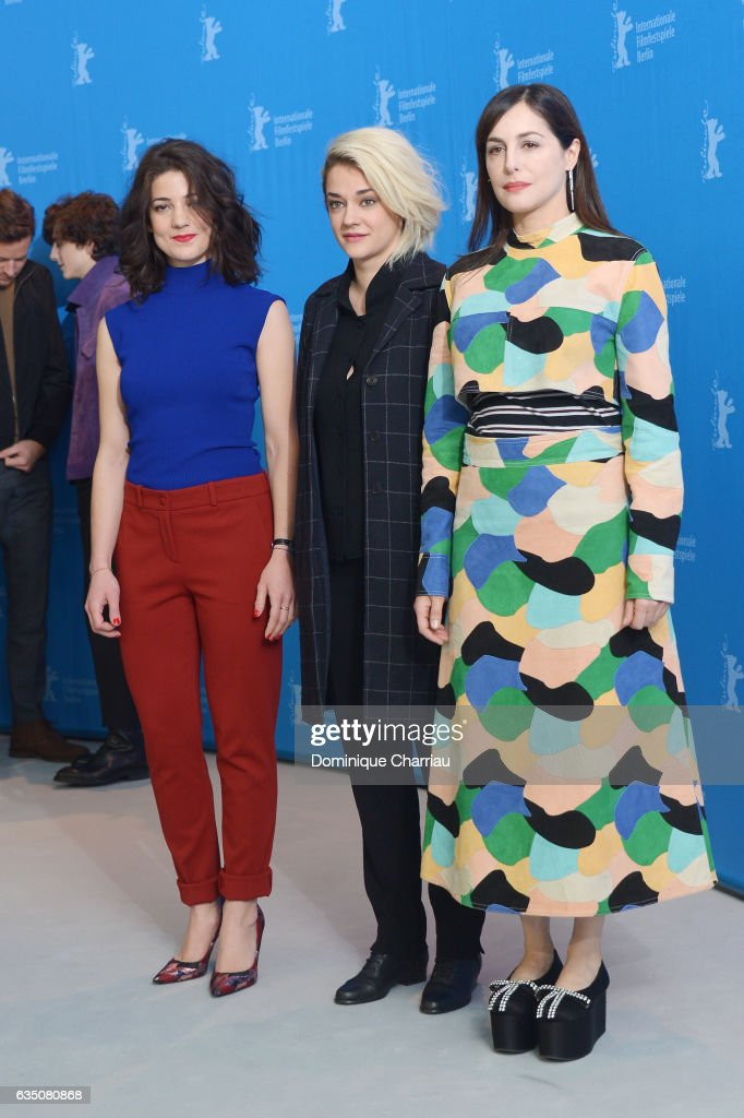 Actresses Esther Garrel, Victoire Du Bois and Amira Casar attend the 'Call Me by Your Name' photo call during the 67th Berlinale International Film Festival Berlin at Grand Hyatt Hotel on February 13, 2017 in Berlin, Germany.