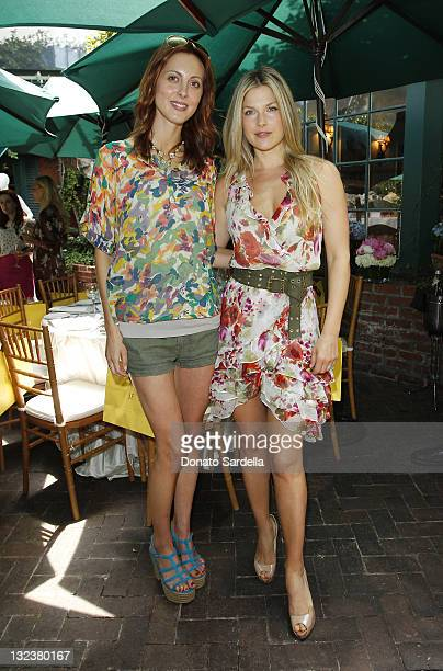 Actresses Eva Amurri and Ali Larter attend Jo De Mer Lunch Hosted By Alexandra von Furstenberg at Il Cielo on June 30, 2011 in Beverly Hills,...