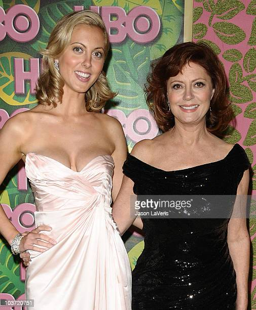 Actresses Eva Amurri and Susan Sarandon attend HBO's post Emmy Awards party at Pacific Design Center on August 29 2010 in West Hollywood California