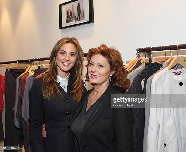 Actresses Eva Amurri Susan Sarandon and Eva Amurri attend the Comptoir des Cotonniers store opening on October 23 2008 in New York City