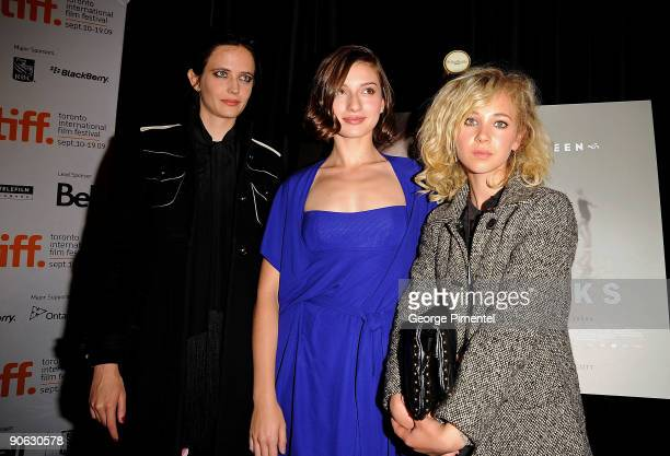 Actresses Eva Green Maria Valverde and Juno Temple speaks onstage at the Cracks press conference held at the Sutton Place Hotel on September 12 2009...