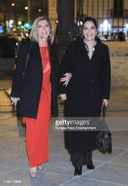 Actresses Eva Isanta and Cristina Plazas attend the Fotogramas Awards 2019 at Florida Park Club on March 04 2019 in Madrid Spain