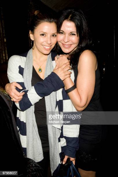 Actresses Eva Longoria and Maria Conchita Alonso attend The Rally For Kids With Cancer Scavenger Cup Reception at Beso on March 22 2010 in Hollywood...
