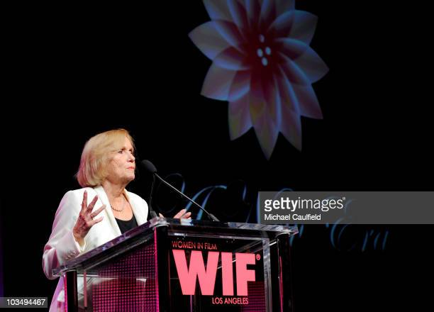 Actresses Eva Marie Saint speaks onstage at the 2010 Crystal + Lucy Awards: A New Era at Hyatt Regency Century Plaza on June 1, 2010 in Century City,...