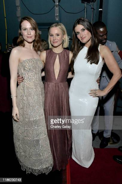Actresses Evan Rachel Wood Kristen Bell and Idina Menzel attend the world premiere of Disney's Frozen 2 at Hollywood's Dolby Theatre on Thursday...