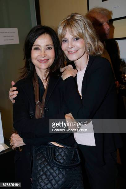 Actresses Evelyne Bouix and Francoise Dorner attend the Tribute to JeanClaude Brialy for the 10th anniversary of his death Held at Centre National du...
