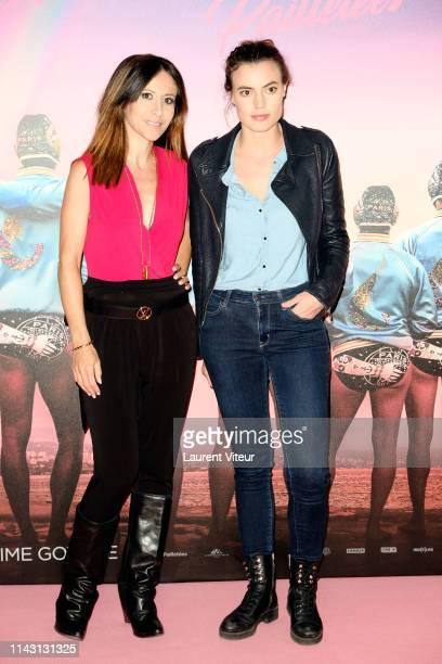 Actresses Fabienne Carat and Johanna Bros attend The Les Crevettes Paillettees Premiere At Cinema Le Grand Rex on April 16 2019 in Paris France