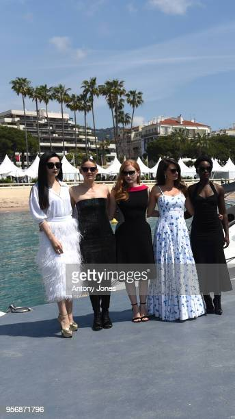 Actresses Fan Bingbing Marion Cotillard Jessica Chastain Penelope Cruz and Lupita Nyong'o attend the photocall for '355' during the 71st annual...