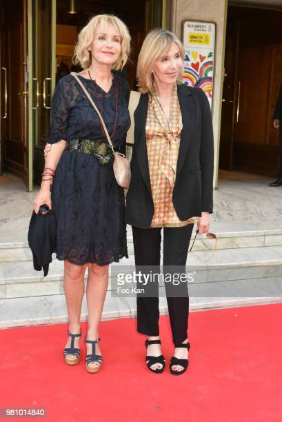 Actresses Fanny Cottencon and Elise Servier attend the Amnesty International 34 th Gala at Theatre Champs Elysees and after Party at La Maison...