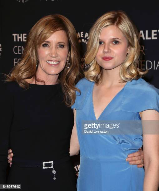 Actresses Felicity Huffman and Ana MulvoyTen attend a premiere screening and conversation for ABC's 'American Crime' Season 3 presented by The Paley...