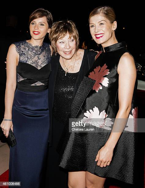Actresses Felicity Jones Shirley MacLaine and Rosamund Pike arrive with MercedesBenz at the 26th annual Palm Springs International Film Festival...
