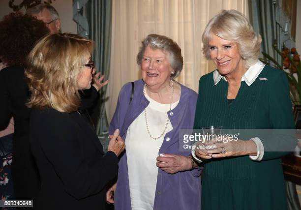 Actresses Felicity Kendall Dame Patricia Routledge and Camilla Duchess of Cornwalll attend a reception to celebrate the launch of the 'Our Amazing...
