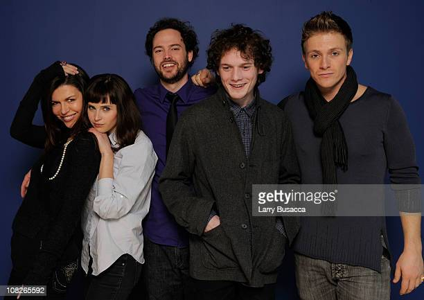 Actresses Finola Hughes and Felicity Jones filmmaker Drake Doremus and actors Anton Yelchin and Charlie Bewley pose for a portrait during the 2011...