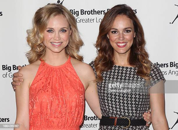 Actresses Fiona Gubelmann and Erin Cahill attend the Big Brothers Big Sisters of Greater Los Angeles annual Accessories for Success spring luncheon...
