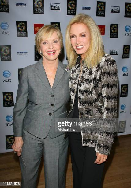 Actresses Florence Henderson and Donna Mills arrive at 30th Anniversary of the Gay Men's Chorus of Los Angeles concert held at the Walt Disney...