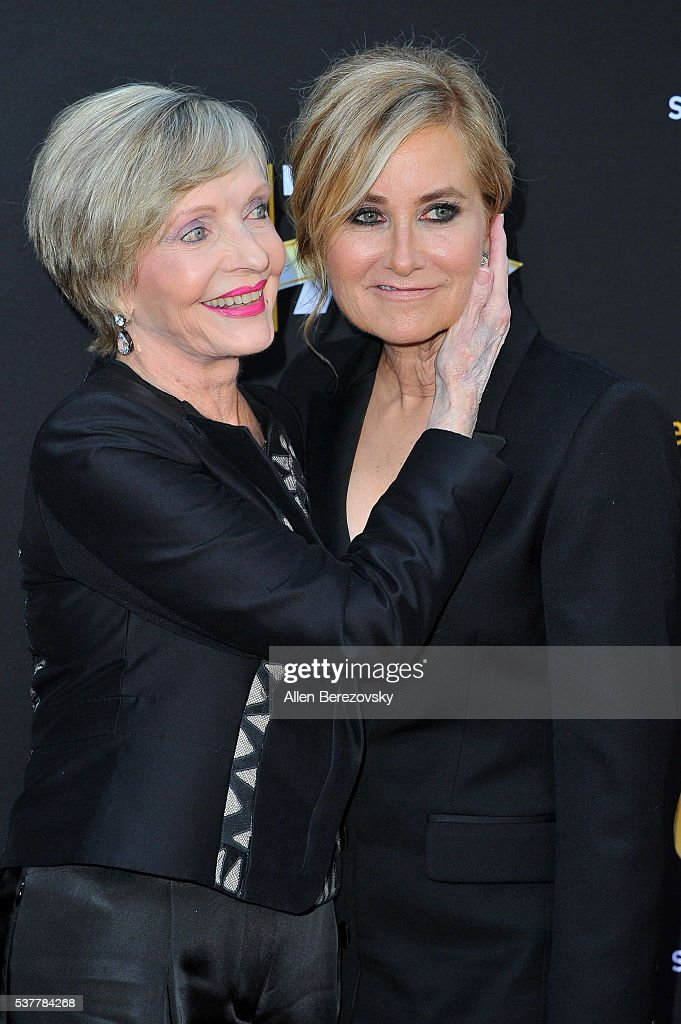 Actresses Florence Henderson (L) and Maureen McCormick attend the Television Academy's 70th Anniversary Gala on June 2, 2016 in Los Angeles, California.