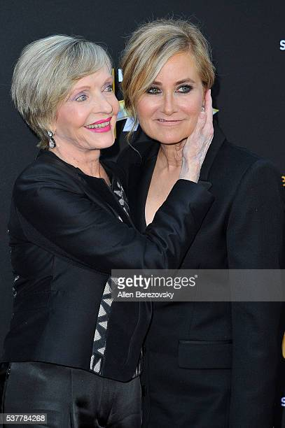 Actresses Florence Henderson and Maureen McCormick attend the Television Academy's 70th Anniversary Gala on June 2 2016 in Los Angeles California