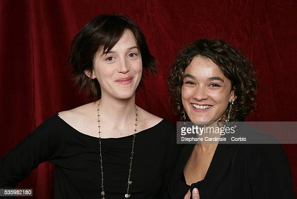 Actresses Florence LoiretCaille and Estelle Vincent in the studio during the Jeunes Espoirs nominees presentation ahead of the 2006 Cesar Awards