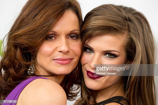 Actresses Florencia Lozano and Kelley Missal attend the 'All My Children' 'One Life To Live' premiere at Jack H Skirball Center for the Performing...