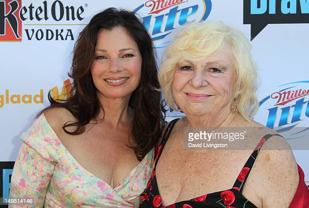 """Actresses Fran Drescher and Renee Taylor attend GLAAD's """"Bravo Top Chef Invasion"""" benefit event at a private residence on July 29, 2012 in Los..."""