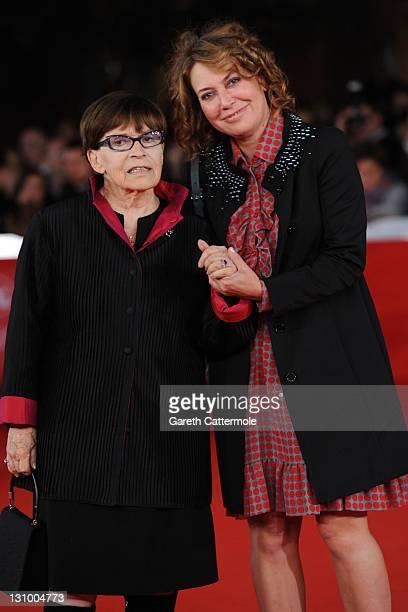 Actresses Franca Valeri and Sabina Guzzanti attendthe Franca La Prima premiere during the 6th International Rome Film Festival on October 31 2011 in...