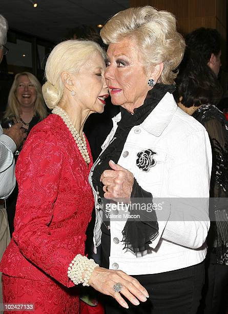 Actresses France Nuyen and Mitzi Gaynor attend AMPAS Screening Of Restored 70mm Print Of South Pacific on June 25 2010 in Beverly Hills California