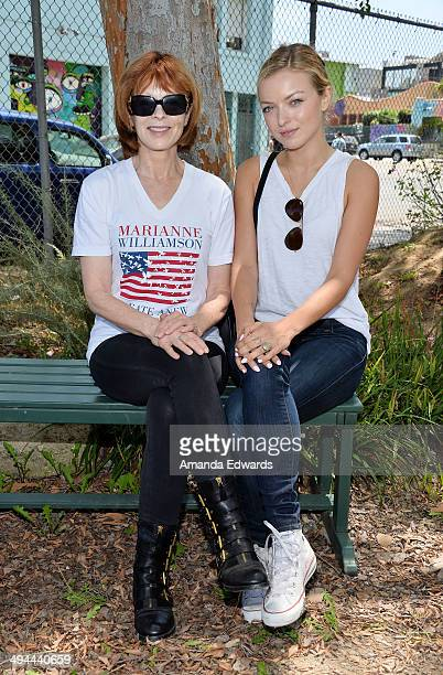Actresses Frances Fisher and Francesca Eastwood attend The Environmental Media Association's 5th Annual LA School Garden Program Luncheon at...