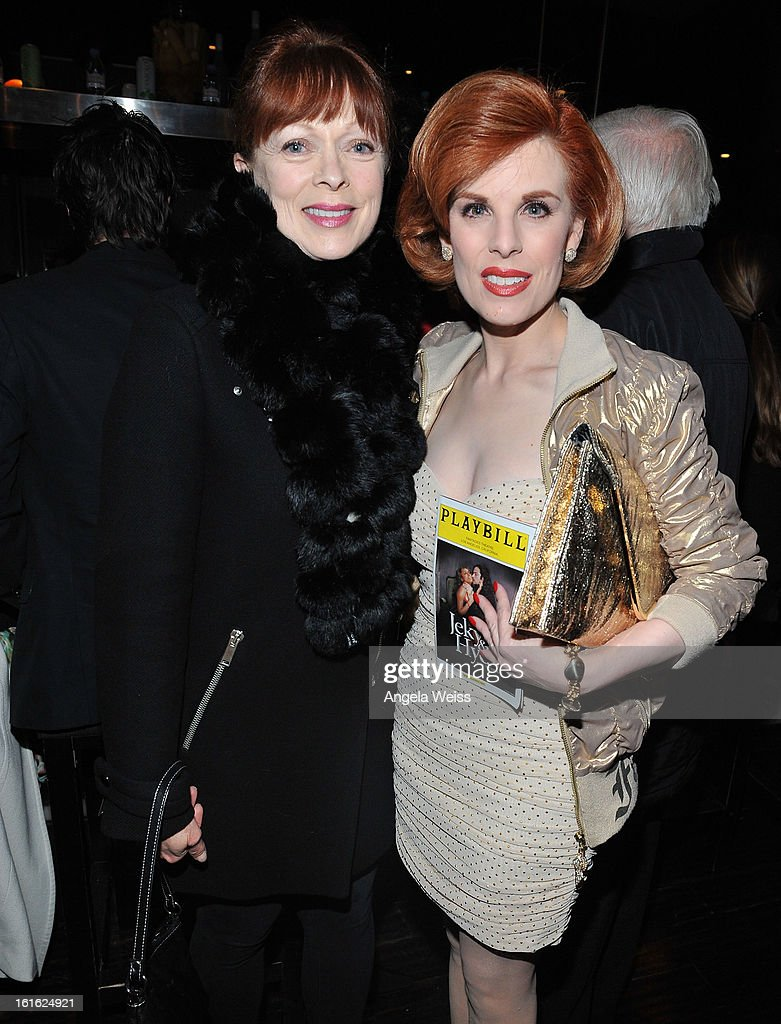 Actresses Frances Fisher and Kat Kramer attend the opening night after party of 'Jekyll & Hyde' held at Beso on February 12, 2013 in Hollywood, California.
