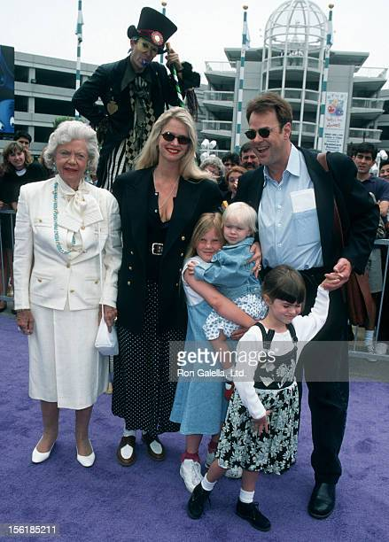 Actresses Frances Tigretts and Donna Dixon actor Dan Aykroyd and daughters Danielle Aykroyd and Belle Aykroyd attend the world premiere of 'Casper'...