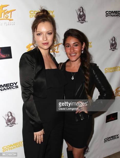 Actresses Francesca Eastwood and Q'orianka Kilcher attend the premiere of Comedy Dynamics' The Fury of the Fist and the Golden Fleece at Laemmle's...