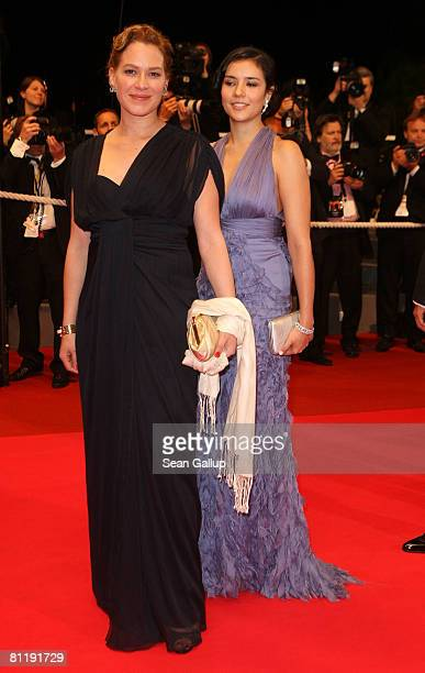 """Actresses Franka Potente and Catalina Sandino Moreno depart the """"Che"""" premiere at the Palais des Festivals during the 61st International Cannes Film..."""