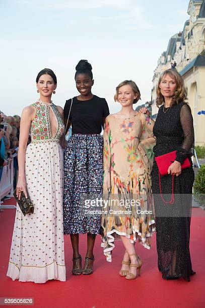 Actresses Frederique Bel Karidja Toure Diane Rouxel and Marianne Basler attend the 30th Cabourg Film Festival Closing Ceremony on June 11 2016 in...
