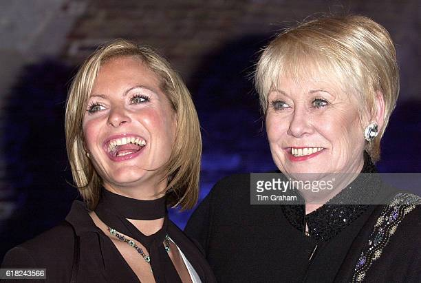 Actresses from Television Soap Coronation Street Tracy Shaw and Liz Dawn at celebrity charity event