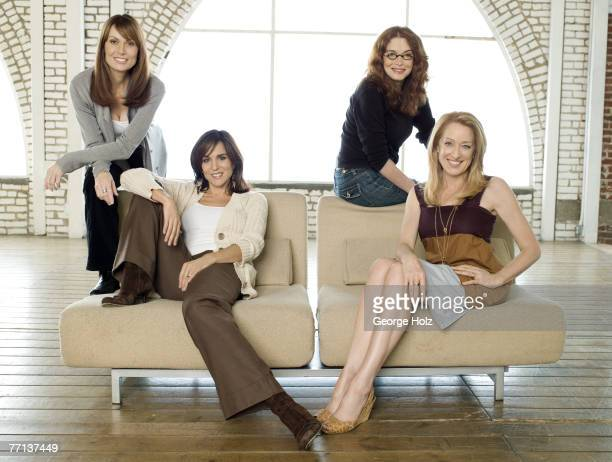 Actresses from the cast of the TV show Thirtysomething Melanie Mayron Polly Draper Mel Harris and Patricia Wettig pose at a portrait session for...