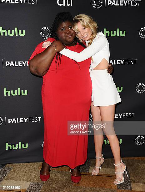 Actresses Gabourey Sidibe and Kaitlin Doubleday attend the Empire event at the 33rd annual PaleyFest at Dolby Theatre on March 11 2016 in Hollywood...