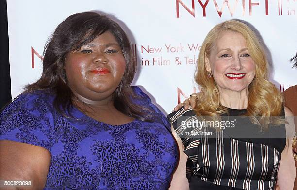 Actresses Gabourey Sidibe and Patricia Clarkson attend the New York Women In Film And Television's 35th Annual Muse Awards at New York Hilton on...